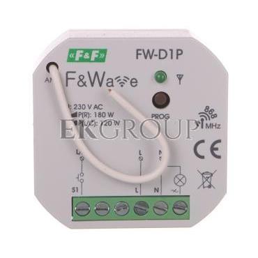 Radiowy ściemniacz uniwersalny 230V - montaż p/t 85-265V AC/DC FW-D1P-168833
