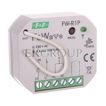 Radiowy pojedyńczy przekaźnik bistabilny - montaż P/t 85-265V AC/DC FW-R1P-168651