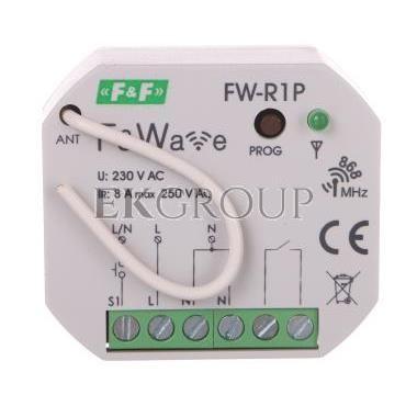 Radiowy pojedyńczy przekaźnik bistabilny - montaż P/t 85-265V AC/DC FW-R1P-168652