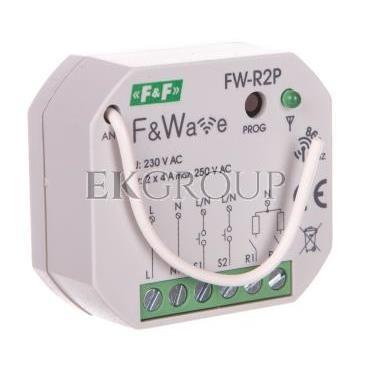 Radiowy podwójny przekaźnik bistabilny - montaż p/t 85-265V AC/DC FW-R2P-168834
