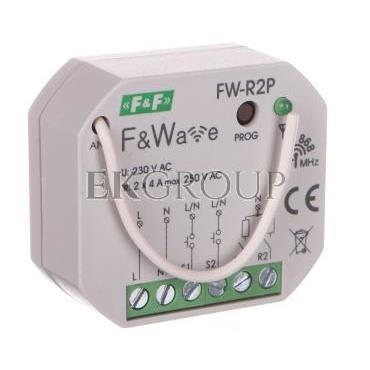 Radiowy podwójny przekaźnik bistabilny - montaż p/t 85-265V AC/DC FW-R2P-168835