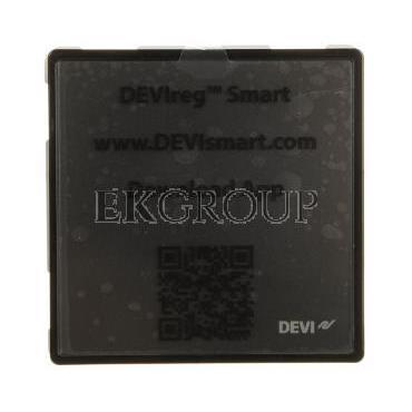 Termostat dotykowy DEVIreg Smart 240V 16A 5-45°C IP21 czarny 140F1143-167085