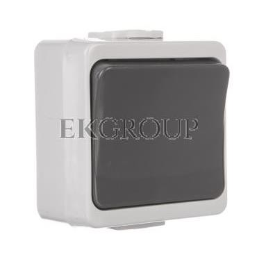 JANTAR-bis Przycisk zwierny /dzwonek/ z podświetleniem n/t IP44 szary WNT-7J-b/S-170062