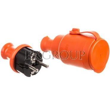 Zestaw przełączeniowy (gniazdo GN-H2 wtyczka WT-40H) IP44 pomarańczowy ZP-H2-172580