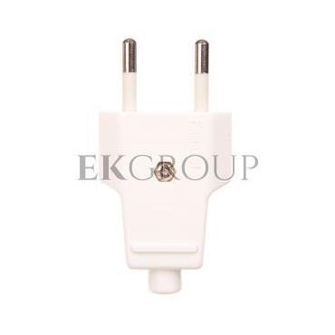 Wtyczka płaska 10A b/u 250V biała WT-1001 (ZN-11 2,5A)-174510