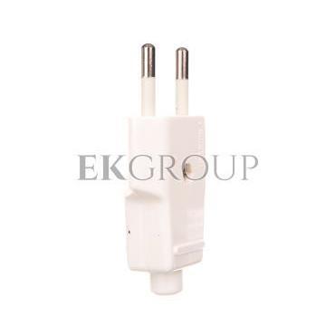 Wtyczka płaska 10A b/u 250V biała WT-1001 (ZN-11 2,5A)-174511