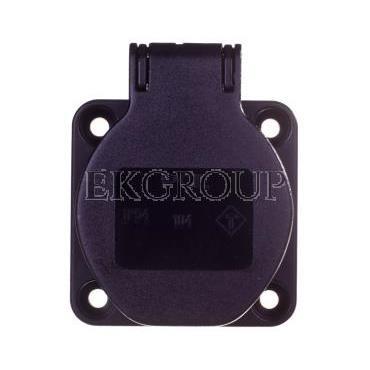 Gniazdo tablicowe 10/16A 2P Z 230V czarne IP54 104-0ss-168353
