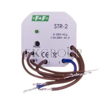 Sterownik rolet jednoprzyciskowy 1,5A AC-3 230V 0-10min (kapsułka fi55mm) STR-2-168714