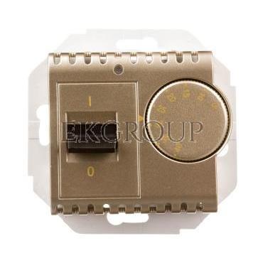 Simon 54 Regulator temperatury z czujnikiem wewnętrznym złoty mat DRT10W.02/44-174713