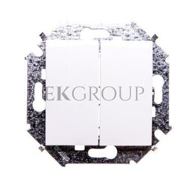 Simon 15 Przycisk podwójny zwierny biały 1591396-030-171338