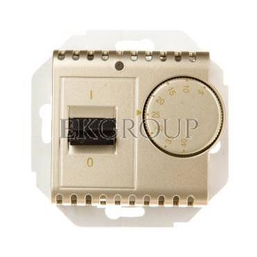 Simon 54 Regulator temperatury z czujnikiem zewnętrznym złoty mat DRT10Z.02/44-174709