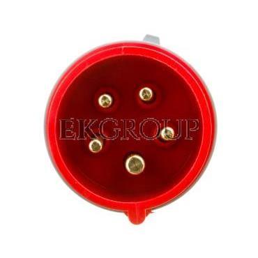 Wtyczka przenośna 16A 5P 400V czerwona IP44 TURBO SHARK 015-6TT-174133