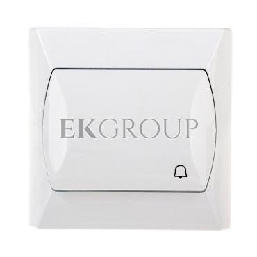 AKCENT Przycisk /dzwonek/ biały ŁP-6A/00-169788