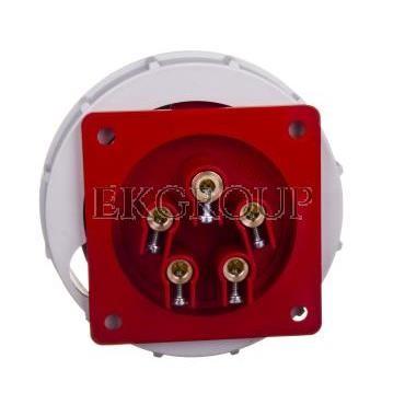 Wtyczka tablicowa 32A 5P 400V czerwona IP67 6252-6-174453