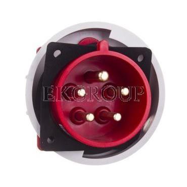 Wtyczka tablicowa 32A 5P 400V czerwona IP67 6252-6-174454