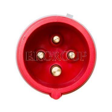 Wtyczka przenośna 16A 4P 400V czerwona IP44 TURBO SHARK 014-6TT-174163