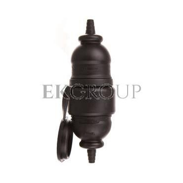 Adapter prosty wtyczka-gniazdo z pokrywą z/u 16A 2P AWA-WOGO czarny 51.80-172568