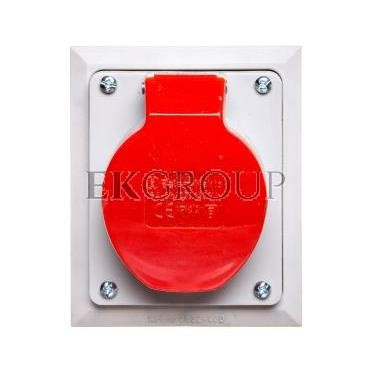 Gniazdo izolacyjne skośne p/t 16A 250/400V 5P IP44 2622-420-167830