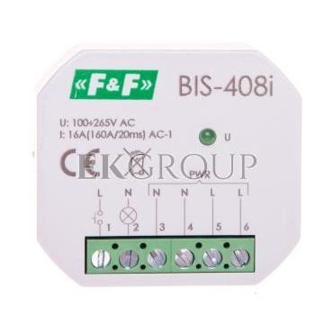 Przekaźnik bistabilny 1 Z 16A 230V AC Inrush BIS-408i-168770