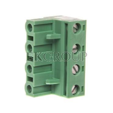 Wtyk śrubowy do płytek drukowanych 4P 12A 630V zielony GMSTB 2,5/ 4-ST 1766903-173707