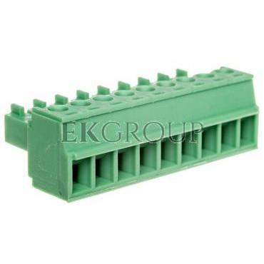 Wtyk śrubowy do płytek drukowanych 9P zielony MC 1,5/ 9-ST-3,81 1803646-173735