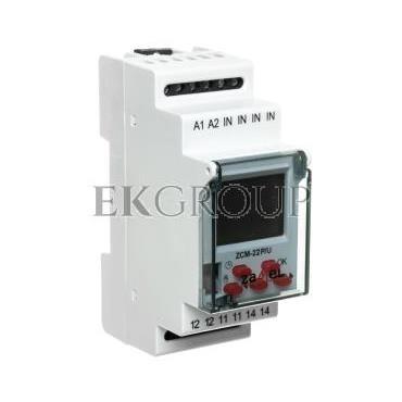 Programator czasowy 1-kanałowy tygodniowo-roczny pamięć zewn. 24-250V AC / 30-300V DC ZCM-22P/U EXT10000189-174764