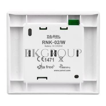 Radiowy nadajnik klawiszowy 2-kanałowy biały RNK-02/W EXF10000066-168821