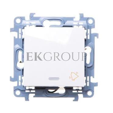 Simon 10 Przycisk /dzwonek/ z podświetleniem LED biały CD1L.01/11-170010