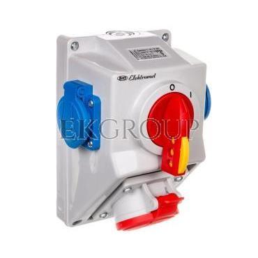 Zestaw instalacyjny rozłącznikiem O-I 1x16A 5P 400V, 2x16A 2P Z C16-18.2N IP54 971661-174992