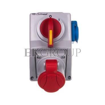 Zestaw instalacyjny z rozłącznikiem O-I 1x32A 4P 400V, 1x16A 2P Z C32-18.1 IP-54 974011-174998
