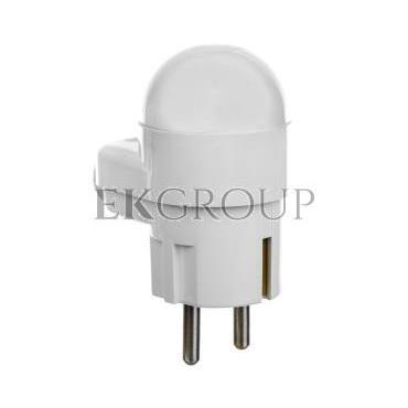 Wtyczka 16A 2P Z Uni-Schuko z lampką 250V biała WT-16U/L-172669