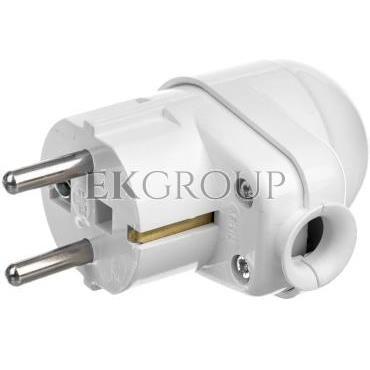 Wtyczka 16A 2P Z Uni-Schuko z lampką 250V biała WT-16U/L-172670