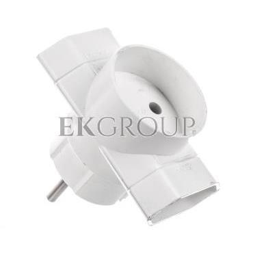 Rogałęźnik wtyczkowy 2xEuro   1x2P biały R-1-172646
