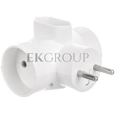 Rozgałeźnik wtyczkowy 2x2P  1xEuro biały R-20-172655