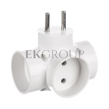 Rozgałeźnik wtyczkowy 3x2P biały R-30-172658