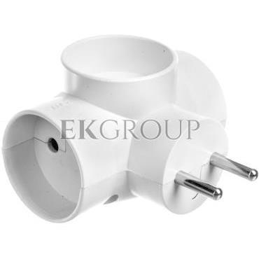 Rozgałeźnik wtyczkowy 3x2P z podświetleniem biały R-30/S-172659