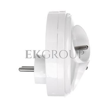 Rozgałeźnik wtyczkowy 3x2P Z okrągły biały R-36-172652