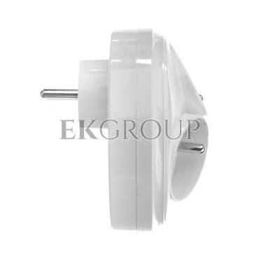 Rozgałeźnik wtyczkowy 3x2P Z okrągły z podświetleniem biały R-36/S-172654