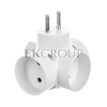 Rozgałeźnik wtyczkowy 3x2P  1xEuro biały R-43-172660
