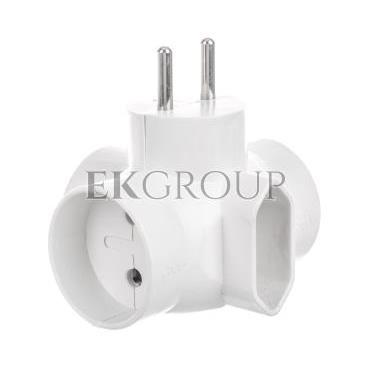 Rozgałeźnik wtyczkowy 3x2P  1xEuro biały R-43-172661