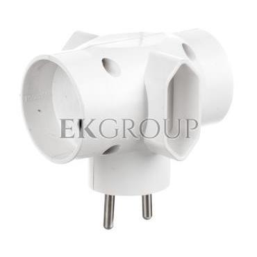 Rozgałeźnik wtyczkowy 2x2P  2xEuro biały R-45-172662