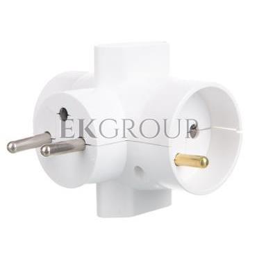 Rozgałeźnik wtyczkowy 2x2P Z  2xEuro biały R-46-172663