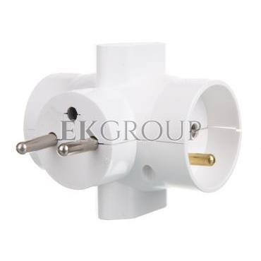 Rozgałeźnik wtyczkowy 2x2P Z  2xEuro biały R-46-172664