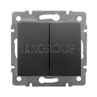 LOGI Łącznik zwierny podwójny śrubowy 10AX 250V grafit 021022141 25247-171414