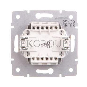 LOGI Łącznik zwierny podwójny LED śrubowy 10AX 250V kremowy 021023103 25130-171421