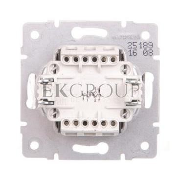 LOGI Łącznik zwierny podwójny LED śrubowy 10AX 250V srebrny 021023143 25189-171427