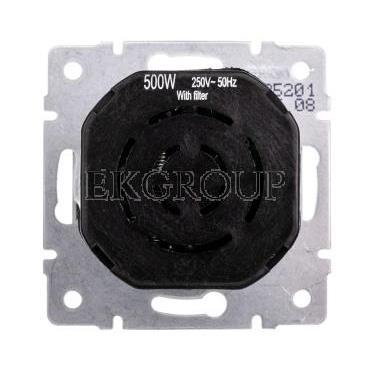 LOGI Ściemniacz obrotowy 500W z filtrem śrubowy 10AX 250V srebrny 021160143 25201-173119