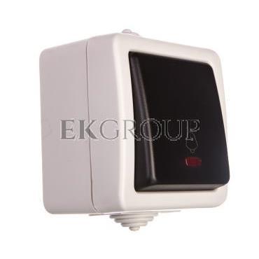 TEKNO Łącznik zwierny z LED śrubowy 10AX 250V czarny IP54 25355-170659