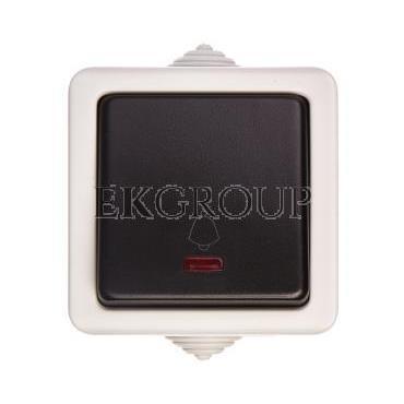 TEKNO Łącznik zwierny z LED śrubowy 10AX 250V czarny IP54 25355-170660