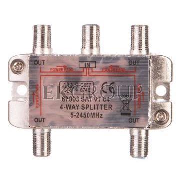 Rozdzielacz sygnału SAT splitter 1x F / 4x F 5-2500MHz 67003-175097